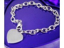 Custom Heart Pendant Rose Gold Plated Chain Bracelet Women Jewelry For Party